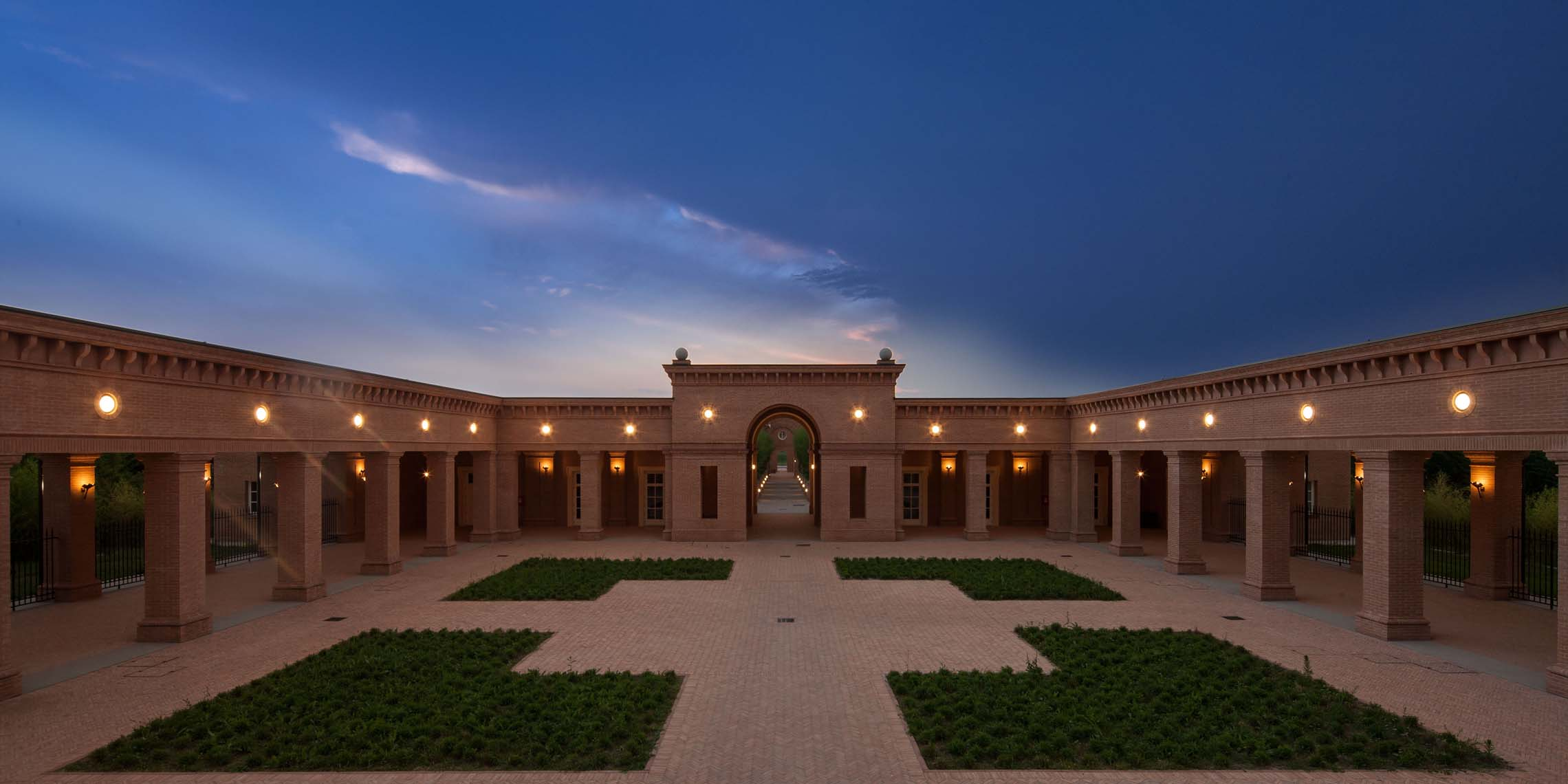 The Central Courtyard at Dawn